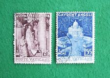 Vatican stamps (1950): full set of 2; used, hinged: Dogma of the Assumption