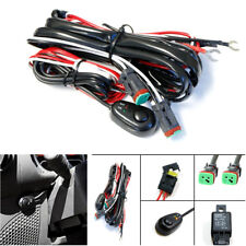 2 Lead Car LED Work Light Wiring Harness Kit Switch Cable DT Connector Universal