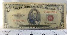 1953 C U.S. Note 5 Dollar MisPrint  Note.