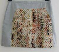 BANANA REPUBLIC Popcorn Panel Women's Grey Mini Skirt. Size UK 8 Petite, EU 36P.