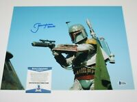 JEREMY BULLOCH SIGNED STAR WARS BOBA FETT 11x14 MOVIE PHOTO IV 2 BECKETT COA BAS