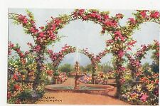 C.T. Howard, Fountain In The Gardens, Sandringham, Salmon Art Postcard, A853