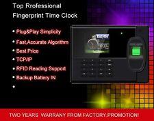 New FINGERPRINT TIME CLOCK ATTENDANCE SYSTEM+Backup Battery