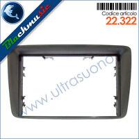 Mascherina supporto autoradio 2ISO-2DIN Fiat Panda 2 (2003-2011) colore grigio