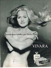 PUBLICITE  1968   JULIO PUCCI  parfum VIVARA