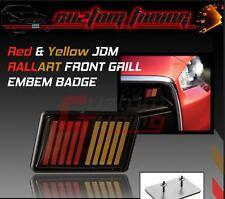 JDM EVOLUTION 5 6 7 8 9 10 VI VRM RED/YELLOW 2-TONE RALLIART LOGO GRILL EMBLEM