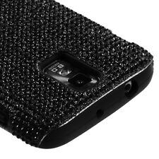T-MOBILE SAMSUNG GALAXY S II 2 T989 DUAL LAYER FUSION HYBRID CASE SOLID BLACK