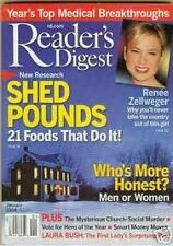 Magazine Reader's Digest January 2004 Renee Zellweger Shed pounds 21 Foods that