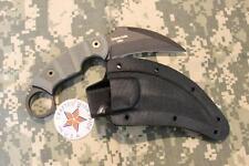 NEW Ontario 9466 Ranger EOD Kerambit Knife DeSantis Sheath Black Micarta Handles