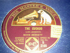 MAVIS BENNETT THE CUCKOO & LITTLE BROWN OWL HMV B2190