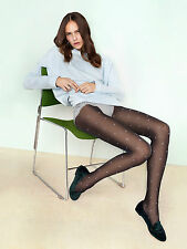 Fiore Bling Bling Design 20 Denier Patterned Tights Black With Light Grey Dots 3 - Medium