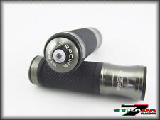 Strada 7 CNC Grey Grips & Bar Ends Combo Ducati M1100 S EVO 821 796 696 MONSTER