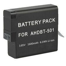 GoPro Battery 1600mAh For Gopro Hero8 Hero 8 7 6 2018 Black