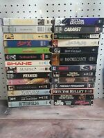 Lot of 27 VHS movies, 50s, 60s, 70s. Rebecca, Cabaret, Raintree County, Madame X