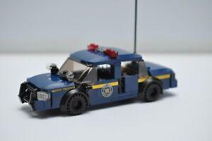 Police Car NY state police Custom Interceptor MOC Model Built with Real LEGO