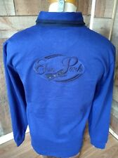NEW EDEN PARK Cotton Polo Rugby w/Back Embroidery BLUE Shirt Sz L