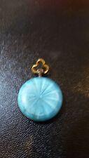 antique 800 silver powder blue enamel pocket watch guilloche swiss pocket watch