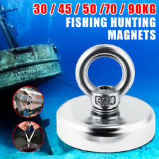 200KG Starker Neodym Magnet Recovery Fishing Industrie Treasure Hunting 60mm /