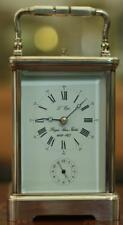 ROYAL SILVER JUBILEE L'EPEE 1977 GRANDE STRIKING REPEATER ALARM CARRIAGE CLOCK
