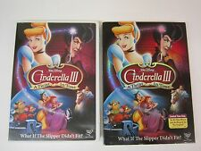 WALT DISNEY - Cinderella III: A Twist in Time (DVD, 2007) WITH SLIPCOVER