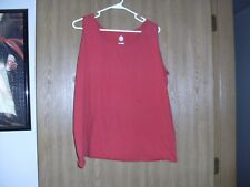 ladies used size 2x  red sleeveless tank top fruit of the loom