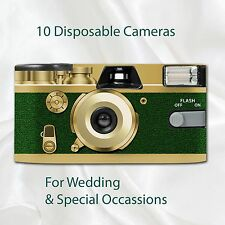 10 x Disposable Camera Retro Golden Forest Wedding flash 27exp with table cards