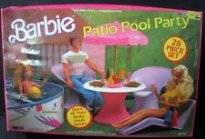 Vintage Barbie Patio Pool Party Set 1988 Hard to Find Doll 7323 Collectible 80's