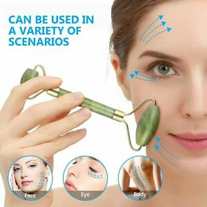 Jade Face Massagers Roller Tool Beauty Facial Eye Neck Body Anti Ageing Therapy
