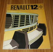 Catalogue RENAULT 12 de 1971