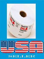 30000 Oil Change Sticker Roll Reminder Sticker Non Branded(60Roll of 500 sticker
