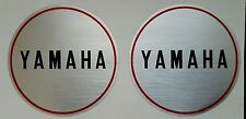 YAMAHA CS5 MODELS ENGINE CASING CRANKCASE DECAL KIT 80mm DIAMETER (PAIR)