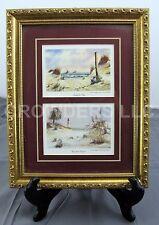"Ed Emerson Framed/Matted Watercolor Prints Sand & Sea + Carolina Coast 11""x14"""