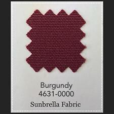 """Sunbrella Fabric 60"""" Wide Burgundy #4631 4 Yards"""