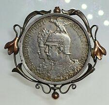 Brosche Anhänger Münze Deutsches Reich 2 Mark 1901