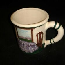 CUP Liz Lawrence Coffee Collectible Art Pottery Queen Anne Chairs Interior '90