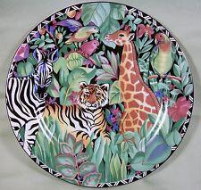 "Sakura Sue Zipkin Magic Jungle 1995 Ultra Porcelain Leopard Salad Plate 8-1/8"""