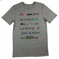 Nike Air Jordan Greatest On  Earth T-Shirt 789627 063 Gray S/M/L/XL/2XL/3XL New