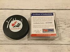 Vincent LeCavalier Signed Team Canada Hockey Puck PSA/DNA COA Autographed a