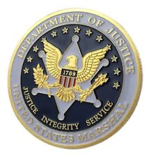 U.S. United States Marshal | Department of Justice | Gold Plated Challenge Coin