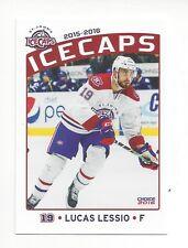 2015-16 St. John's IceCaps (AHL) Update set Lucas Lessio (HIFK)
