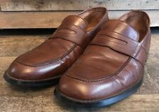 Giorgio Cosani Couture Men's Brown Leather Penny Loafers Size 11 M Hand Crafted