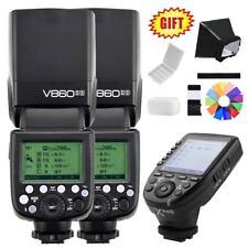 2X Godox Ving V860II-S TTL 2.4G Li-ion Battery Flash Speedlite + XPro-S for Sony