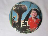 "Vintage 1982 ET Extra Terrestrial Movie Giant Photo Button Pin Pinback 6"""