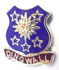 Dingwall Highlands Scotland Small Town Crest Pin Badge