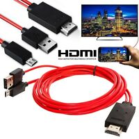 USB MHL to HDMI 1080p Cable TV Out Lead for Android Samsung Phones