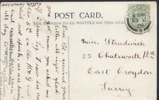 Family History Postcard - Strudwick - 23 Chatsworth Road, East Croydon   RF957