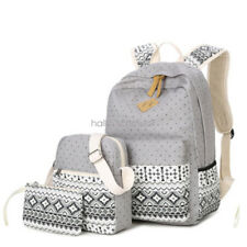 3pcs/Set Backpack Women Canvas Travel Bookbags School Bags for Teenage Girls Hot