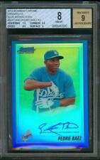 2010 Bowman Chrome BLUE Refractor PEDRO BAEZ Auto Dodgers #67/150 BGS 8