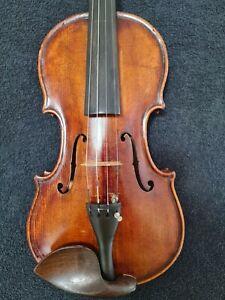 Meistervioline Konzert Instrument. Etikett.Gabriel Lemböck Viennae 1874