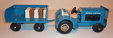 TONKA Pressed Steel 1962 AIRPORT SERVICE TRACTOR & TRAILER #2100 ~ 16.5-inch